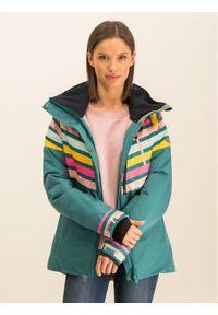 Roxy Kurtka snowboardowa Frozen Flow ERJTJ03219 Zielony Short Fit. Kolor: zielony. Sport: snowboard