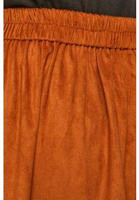 Brązowa spódnica Vila na co dzień, casualowa #4