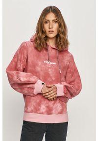 Różowa bluza Ellesse z kapturem, z aplikacjami