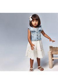 Mayoral Sukienka codzienna 3945 Biały Regular Fit. Okazja: na co dzień. Kolor: biały. Typ sukienki: proste. Styl: casual