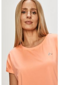 Only Play - T-shirt. Okazja: na co dzień. Kolor: pomarańczowy. Materiał: elastan, dzianina, poliester. Wzór: gładki. Styl: casual #5