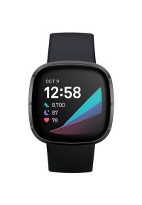 Czarny zegarek FITBIT elegancki, smartwatch