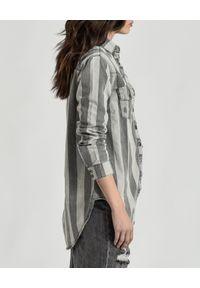 ONETEASPOON - Koszula Vintage. Kolor: szary. Materiał: jeans, materiał. Wzór: paski. Styl: vintage