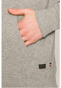 Szara bluza rozpinana PRODUKT by Jack & Jones casualowa, z nadrukiem, z kapturem, na co dzień #4