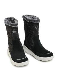 Czarne śniegowce Superfit