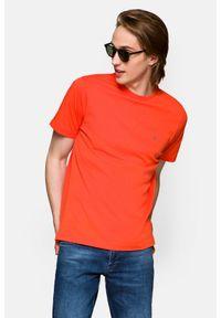 Lancerto - Koszulka Łososiowa Mark. Okazja: na co dzień. Kolor: różowy. Materiał: włókno, materiał, bawełna. Wzór: aplikacja. Sezon: lato, jesień, wiosna, zima. Styl: klasyczny, casual