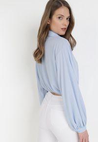Born2be - Niebieska Koszula Arritune. Kolor: niebieski. Długość rękawa: długi rękaw. Długość: długie