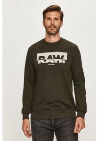 G-Star RAW - G-Star Raw - Bluza. Okazja: na co dzień. Kolor: zielony. Wzór: nadruk. Styl: casual