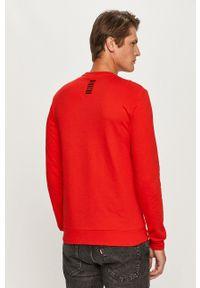 EA7 Emporio Armani - Longsleeve. Okazja: na co dzień. Kolor: czerwony. Długość rękawa: długi rękaw. Styl: casual