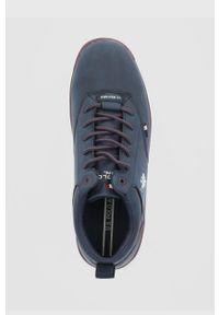 U.S. Polo Assn. - Półbuty. Nosek buta: okrągły. Zapięcie: sznurówki. Kolor: niebieski
