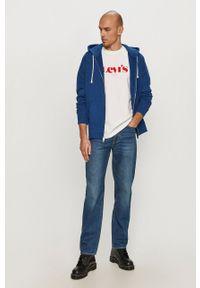 Niebieska bluza rozpinana Levi's® casualowa, z kapturem, na spotkanie biznesowe #5