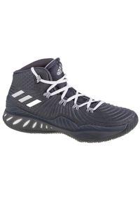 Szare buty do koszykówki Adidas w kolorowe wzory, Adidas Crazy, z cholewką
