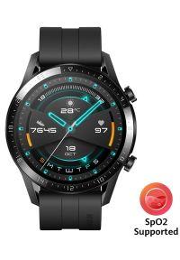 Czarny zegarek HUAWEI elegancki, smartwatch