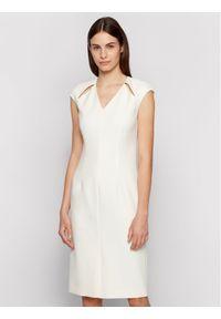 BOSS - Boss Sukienka codzienna Dulipa 50451351 Biały Slim Fit. Okazja: na co dzień. Kolor: biały. Typ sukienki: proste. Styl: casual