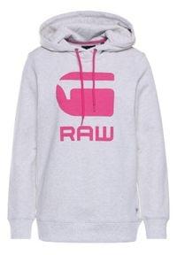 G-Star RAW Bluza Boyfriend Diamond Line Graphic Hooded D16236-A613-971 Szary Loose Fit. Kolor: szary