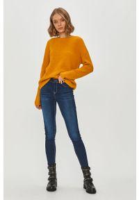 Pomarańczowy sweter Pieces