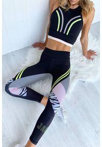 Wielokolorowy komplet sportowy IVET na fitness i siłownię