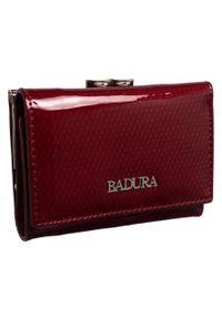 Portfel damski bordowy Badura B-41374P-SBR. Kolor: czerwony. Materiał: skóra