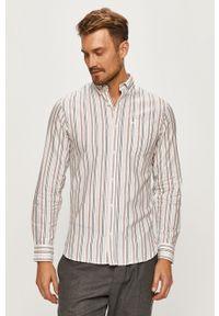 Biała koszula PRODUKT by Jack & Jones button down, casualowa, długa, na co dzień