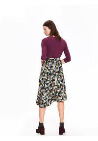 Czarna spódnica TOP SECRET na zimę, casualowa, w kwiaty, długa