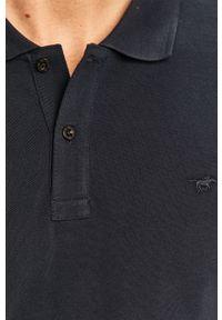 Niebieska koszulka polo Mustang casualowa, krótka, polo