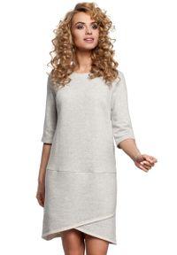 Szara sukienka asymetryczna MOE