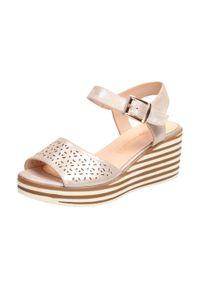 Beżowe sandały Sergio Leone klasyczne