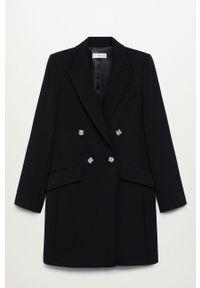 Czarny płaszcz mango na co dzień, casualowy, gładki #8
