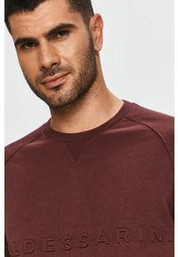 Baldessarini - Bluza bawełniana. Okazja: na co dzień. Kolor: czerwony. Materiał: bawełna. Długość rękawa: raglanowy rękaw. Styl: casual