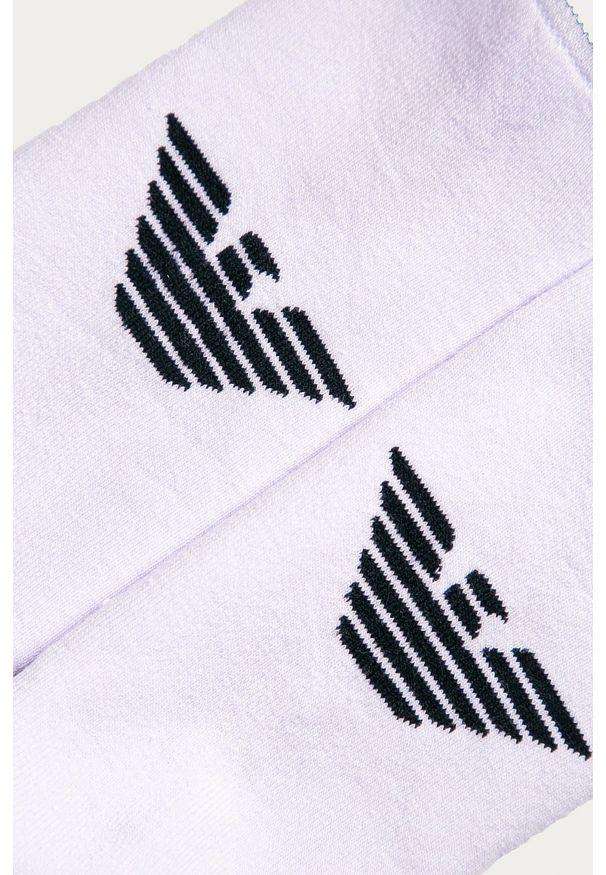 Białe skarpetki Emporio Armani z nadrukiem