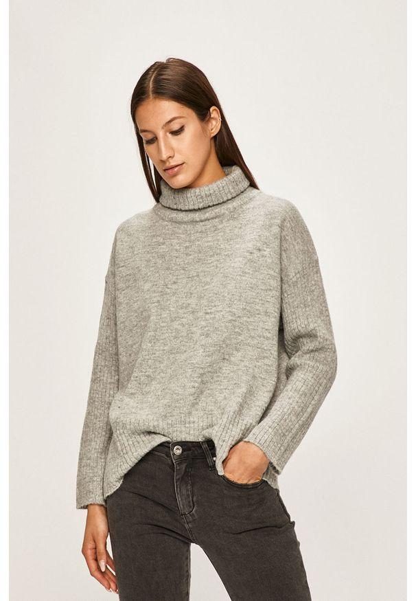 Szary sweter ANSWEAR z golfem