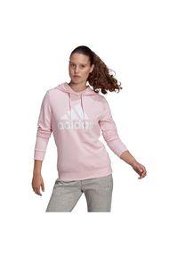Adidas - Bluza damska adidas Essentials Relaxed Logo Hoodie GM5619. Typ kołnierza: kaptur. Materiał: bawełna, wiskoza, materiał, poliester