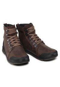 Brązowe buty zimowe sorel