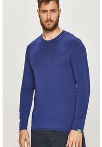 Niebieska koszulka z długim rękawem Calvin Klein Underwear casualowa, na co dzień