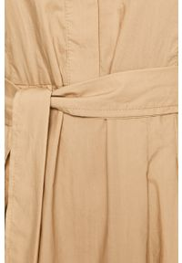 Beżowa sukienka Marc O'Polo polo, midi, rozkloszowana, casualowa