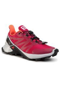 Różowe buty do biegania salomon z cholewką, na co dzień