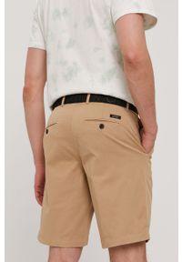 Beżowe szorty Calvin Klein gładkie, na co dzień, casualowe