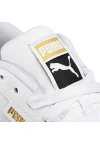 Białe buty sportowe Puma na koturnie, z cholewką
