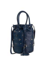 Niebieska torebka klasyczna Eva Minge klasyczna