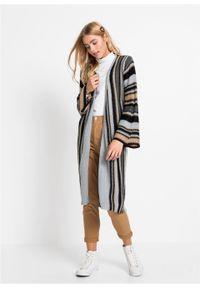 Beżowy sweter bonprix w paski