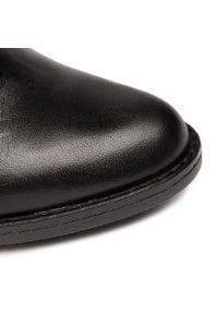 Czarne botki Baldaccini na średnim obcasie, na obcasie, z cholewką #7