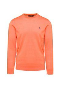 Pomarańczowy sweter Polo Golf Ralph Lauren na co dzień, elegancki, polo