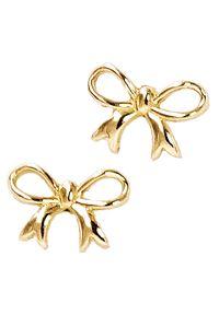 Braccatta - LALA Kolczyki złote kokardki na sztyft. Materiał: złote. Kolor: złoty