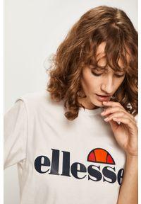 Biała bluzka Ellesse na co dzień, casualowa, z nadrukiem