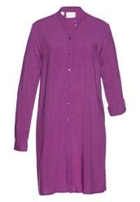Długa bluzka bonprix piwonia. Kolor: fioletowy. Długość: długie