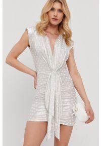 Nissa - NISSA - Sukienka. Kolor: srebrny. Typ sukienki: dopasowane