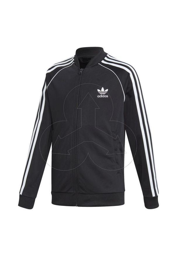 Złota bluza Adidas z długim rękawem, długa, klasyczna, z klasycznym kołnierzykiem