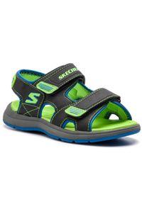 Czarne sandały skechers