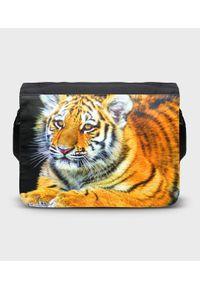 MegaKoszulki - Torba na ramię duża Tygrysek. Wzór: paski, nadruk