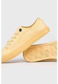 Big-Star - Big Star - Tenisówki. Nosek buta: okrągły. Zapięcie: sznurówki. Kolor: żółty. Materiał: guma